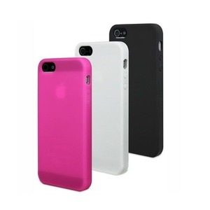 MUVIT 3 COQUES SILICONE NO BLC ROS APPLE IPH5/5S